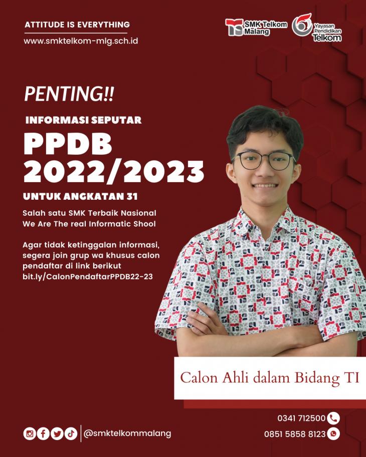 Informasi Penderimaan Peserta Didik Baru (PPDB) Tahun Ajaran 2022/2023